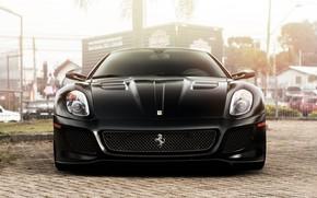 Picture Black, Coupe, GTO, Ferrari 599, Supercar, Black