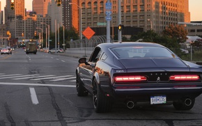 Picture The evening, Road, The city, Street, Street, Muscle car, Bass, 770, Back, Equus, Muscle