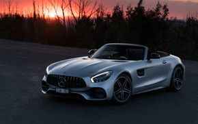 Picture sunset, Roadster, Mercedes-Benz, AMG, 2018, GT C