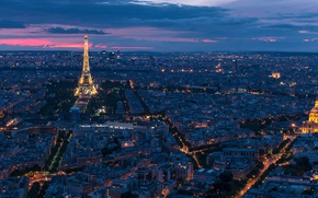Picture France, Paris, panorama, Eiffel Tower, Paris, night city, France, Eiffel Tower, Hotel des Invalides, Invalides