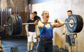Picture scream, blonde, workout, Crossfit