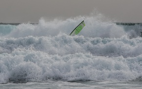 Picture sea, wave, the wind, sail, Windsurfing