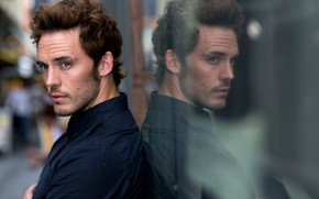 Picture Sam Claflin, reflection, actor
