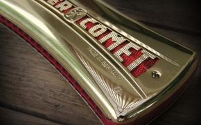 Picture macro, musical instrument, Harmonica