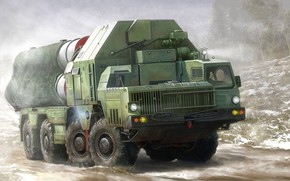 Picture Russia, SAM, Favorite, anti-aircraft missile system, S-300, Launcher