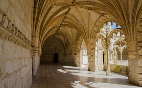 Wallpaper Jeronimos monastery, the monastery, Portugal, architecture, Lisbon