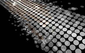Picture circles, background, Shine