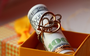 Picture macro, heart, money, ring, dollars