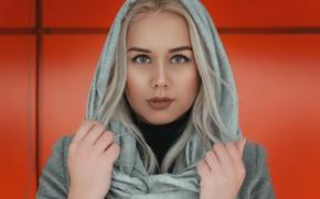 Picture look, face, portrait, hands, Eugene, shawl, Alexander Bondarev