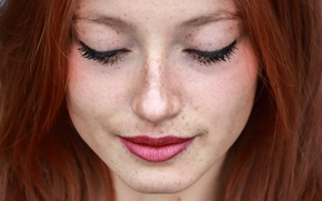 Picture woman, redhead, Makeup