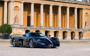 Picture auto, reflection, Maserati, the building, Carbon, MC12