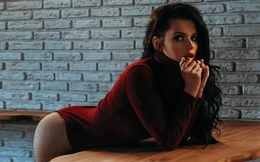 Picture look, girl, pose, wall, hands, Pasha Karpenko, BIOCITY