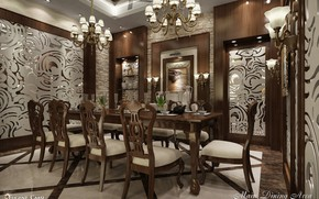 Picture dining ashok, MAIN DINING AREA, serving, the room, design