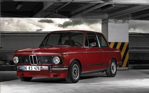 Wallpaper BMW, Boomer, Old, Retro, German, 2002, BMW 2002, Auto, Red, BMW New class, 06KS476, BMW, ...