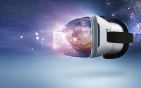 Picture virtual reality glasses, Virtual Reality, game, space