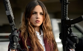 Wallpaper Baby Driver, Eiza Gonzalez, Baby on the drive