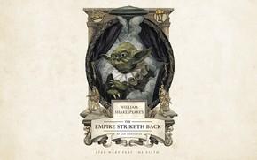 Picture Star Wars, fantasy, minimalism, science fiction, Yoda, sci-fi, movie, film, artwork, Millennium Falcon, curtains, simple …