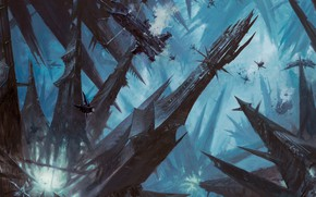Picture city, dark, Warhammer 40 000, Dark Eldar, Commorragh