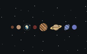 Picture solar system, vector, planet, space, stars