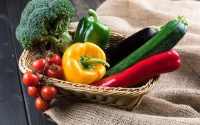 Picture pepper, vegetables, zucchini