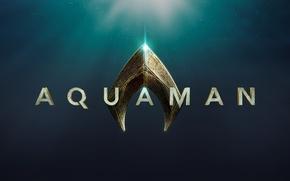 Wallpaper logo, film, official wallpaper, ocean, Aquaman, sea, movie, hero, yuusha, cinema