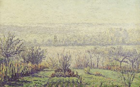 Picture picture, Gustave Cariot, Gustave Cairo, Landscape. Misty Morning