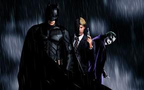 Picture Batman, Rain, Christian Bale