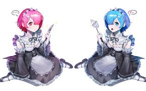 Picture girls, Re: Zero kara hajime chip isek or Seikatsu, From scratch, REM, RAM