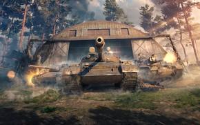 Wallpaper M48A5 Patton, Leopard 1, Hangar, World of Tanks, Wargaming Net, World Of Tanks, WoT, THE ...