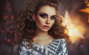 Picture look, face, hair, portrait, makeup, curls, Alex Virusan, Karina Tikhon