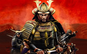 Picture close-up, art, samurai, Total War, Shogun 2, strategy, wallpaper., Bushido, samurai in armor, military tactics, ...