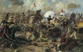 Picture picture, battle, Alexander Averyanov, The Heroism Of General Kostenecka