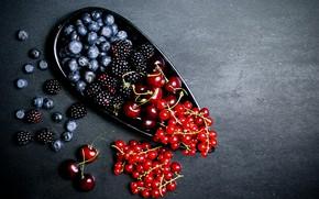 Picture berries, blueberries, currants, BlackBerry