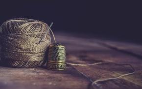 Wallpaper needle, thread, macro