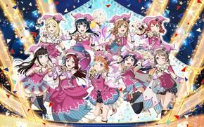 Picture girls, scene, art, love live! school idol project