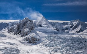 Picture snow, mountains, New Zealand, top, peak
