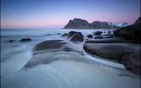 Picture sea, stones, coast, Norway, Norway, Lofoten