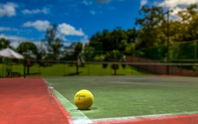 Wallpaper court, tennis, the ball, sport