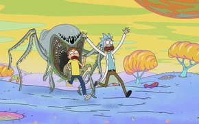 Picture cartoon, the series, the animated series, Rick and Morty, Rick and Morty