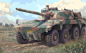Picture South Africa, tank fighter, Caracal, Reumech OMC, South African military reconnaissance vehicle, Rooikat