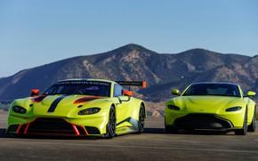 Picture Aston Martin, Vantage, pair, racing car, 2018, GTE