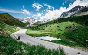 Picture road, mountains, nature, lake