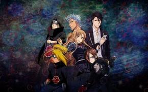Picture anime, anime, Itachi, kirito, Deidara, kirito, asuna, Asuna, deidara, byakuya kuchiki, itachi uchiha, gringo, krossoveryi, …