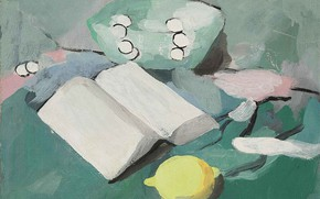 Picture Modern, Marie Laurencin, Still life with a book, lemon and pearls