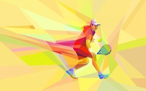 Picture the game, vector, athlete, tennis