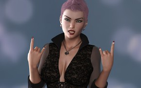 Picture girl, punk, hands