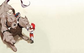 Picture anime, dog, hero, manga, powerful, strong, yuusha, Cerberus, mythological animal, Boku no Hero Academy, My …