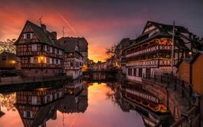 Wallpaper river, Strasbourg, home