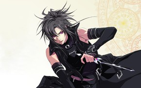 Picture anime, purple eyes, blade, cosplay, assassin, manga, Wand Of Fortune, Sword Art Online, Kirito, Kirigaya …