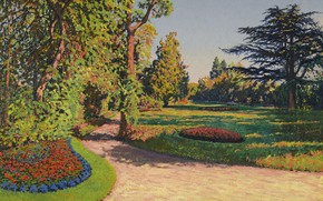Picture landscape, picture, Gustave Cariot, Gustave Cairo, The Garden In The Summer